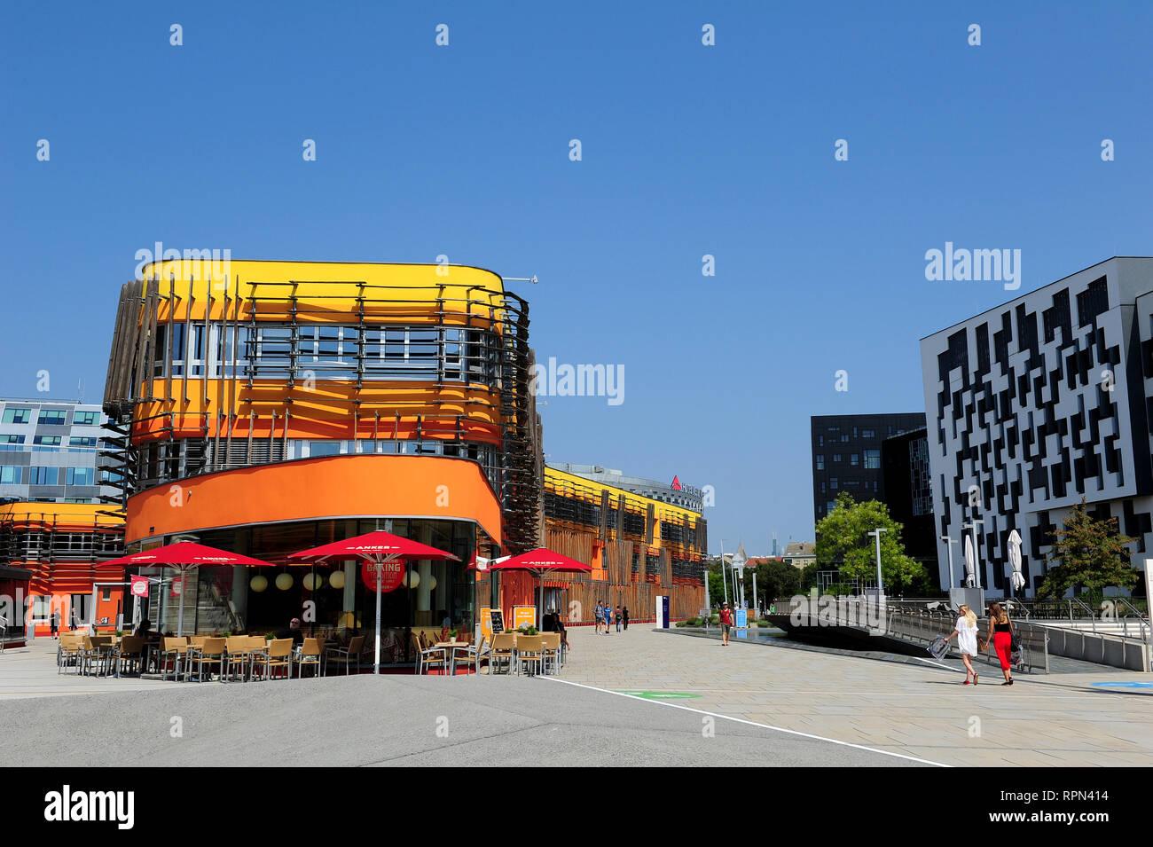 New Campus WU, Vienna University of Economics and Business, Vienna, Austria - Stock Image