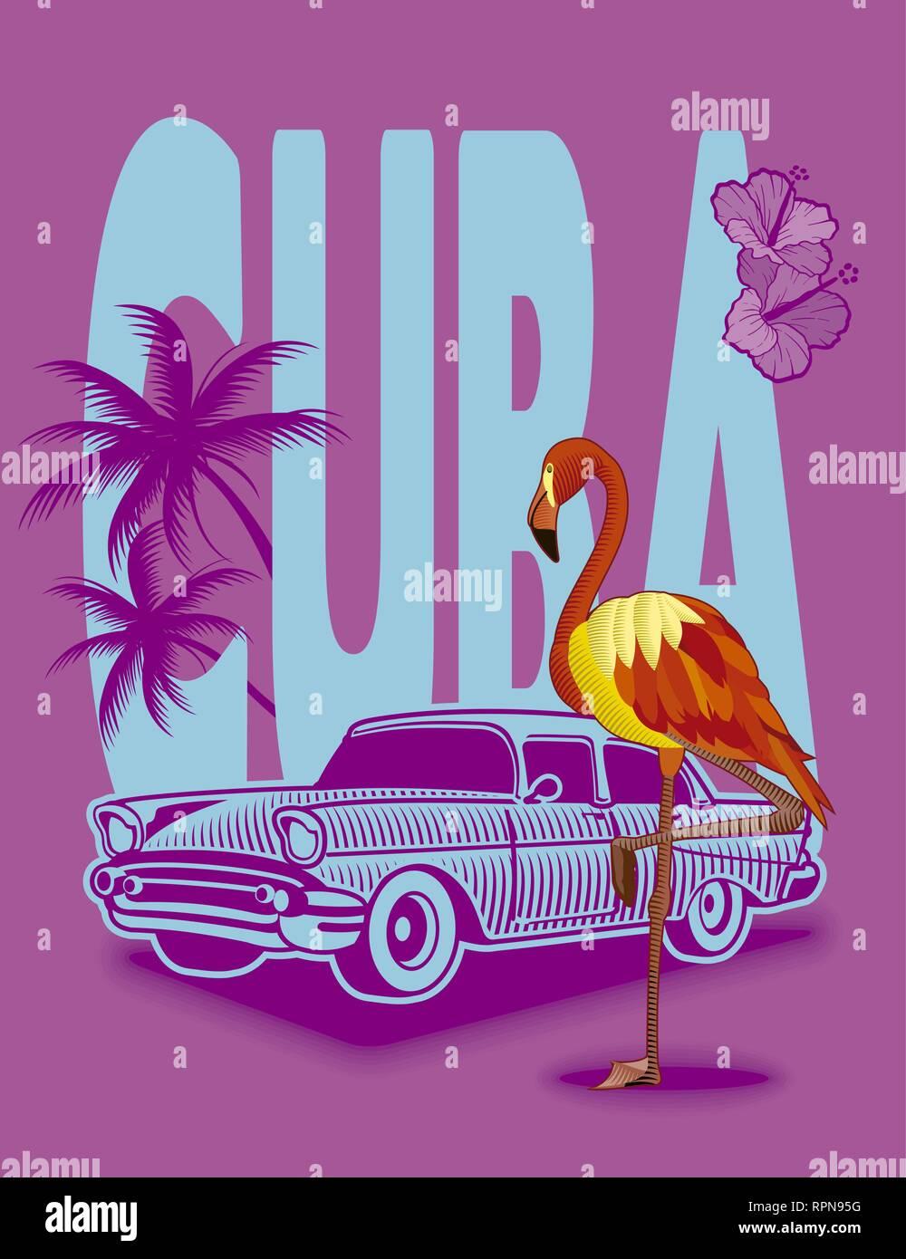 Cuba backgroud - Stock Vector