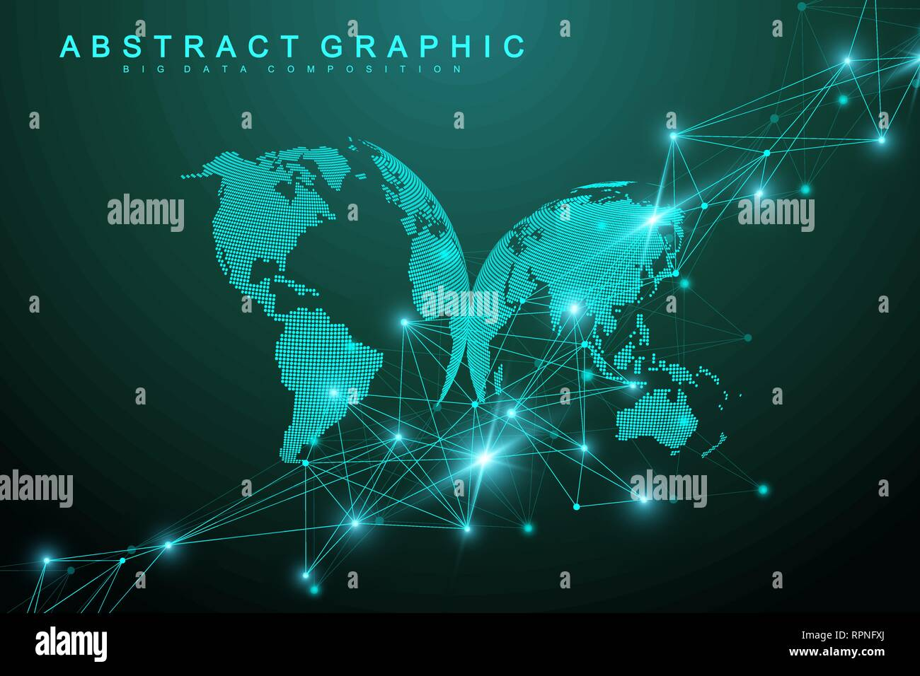 Big data visualization  Graphic abstract background communication