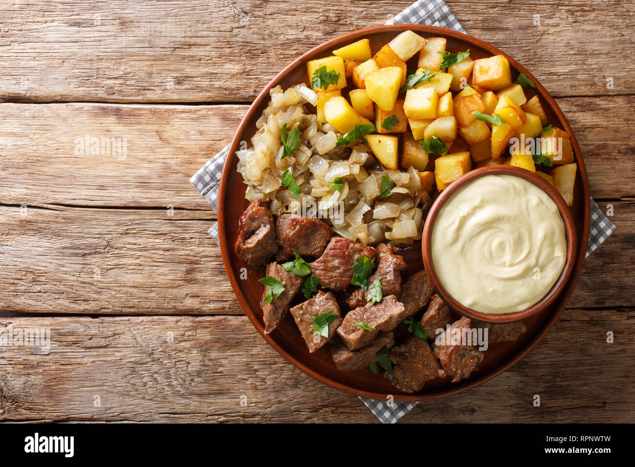 Swedish Beef Rydberg with fried onions and crisp potatoes with ...