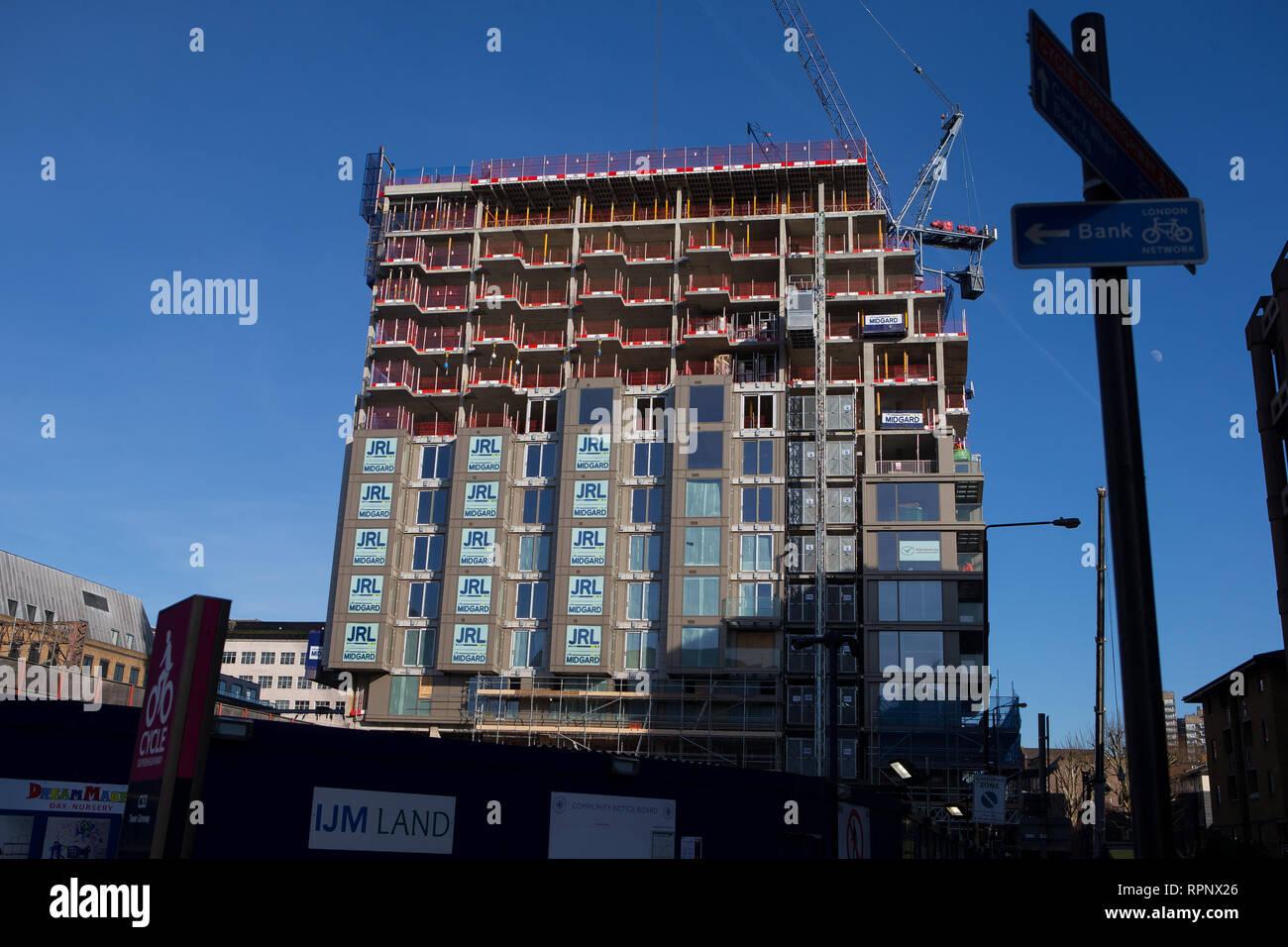 Royal Mint Gardens, Royal Mint Street residential building development works, East London, E1 - Stock Image