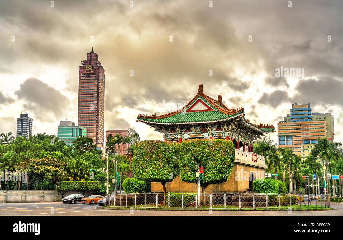 The East Gate of old Taipei city - Stock Image