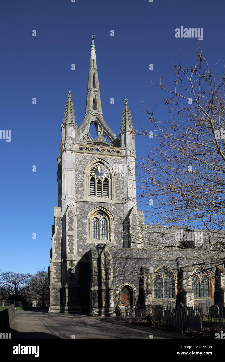the parish church of st mary of charity in faversham kent Stock Photo