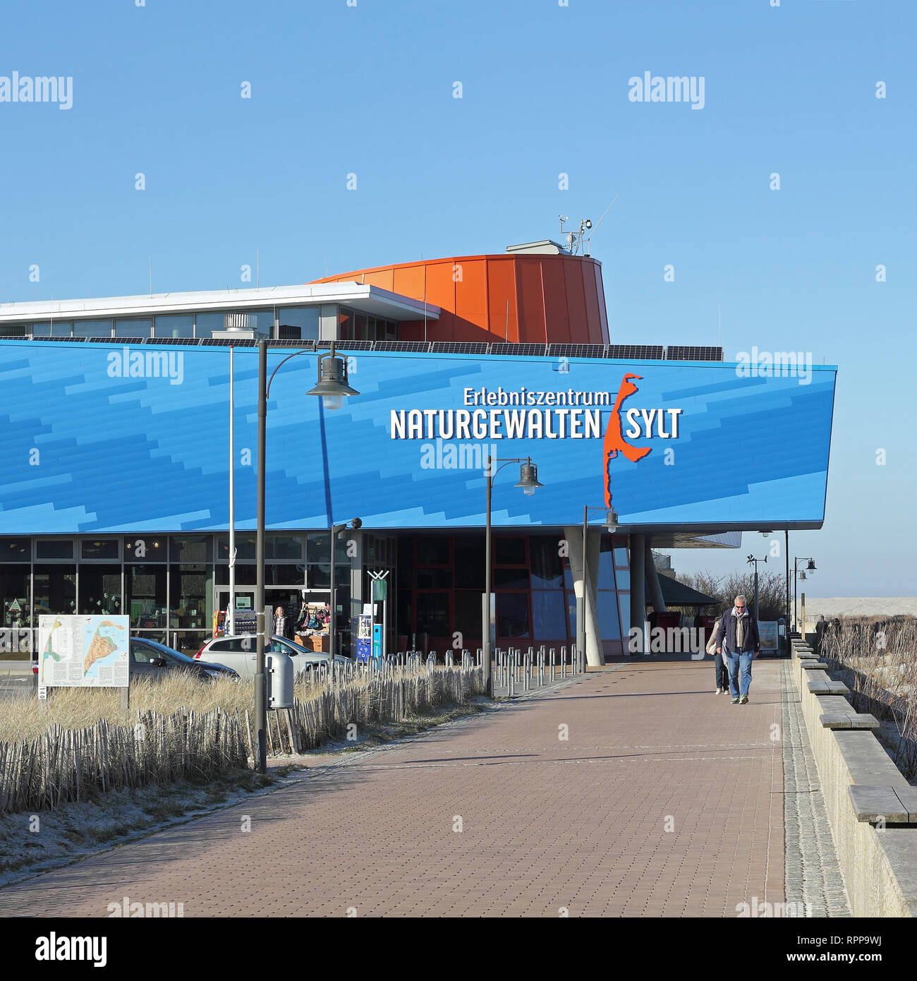 The Forces of Nature Exhibition in List on the island of Sylt - Stock Image