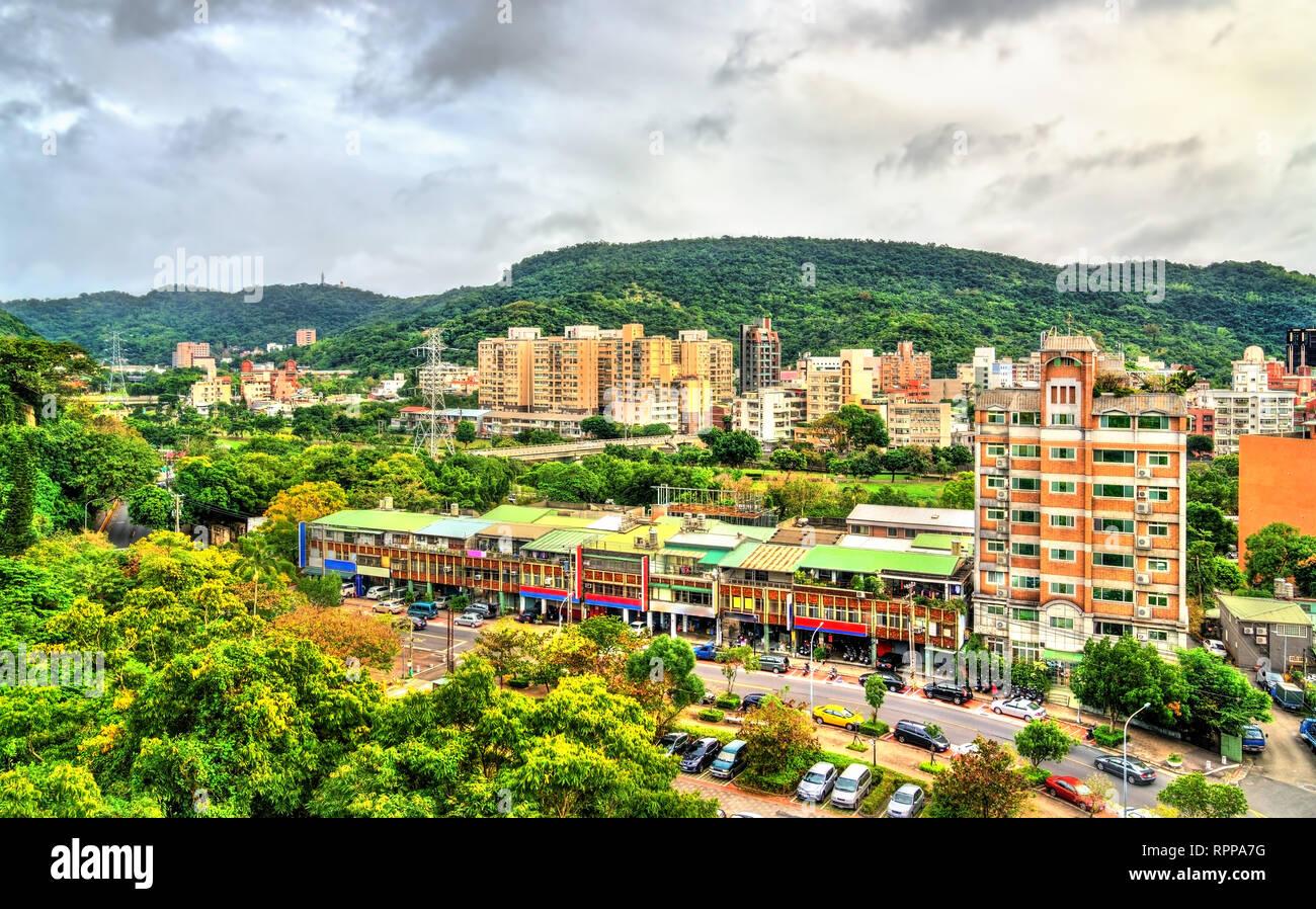 View of Taipei, the capital of Taiwan - Stock Image