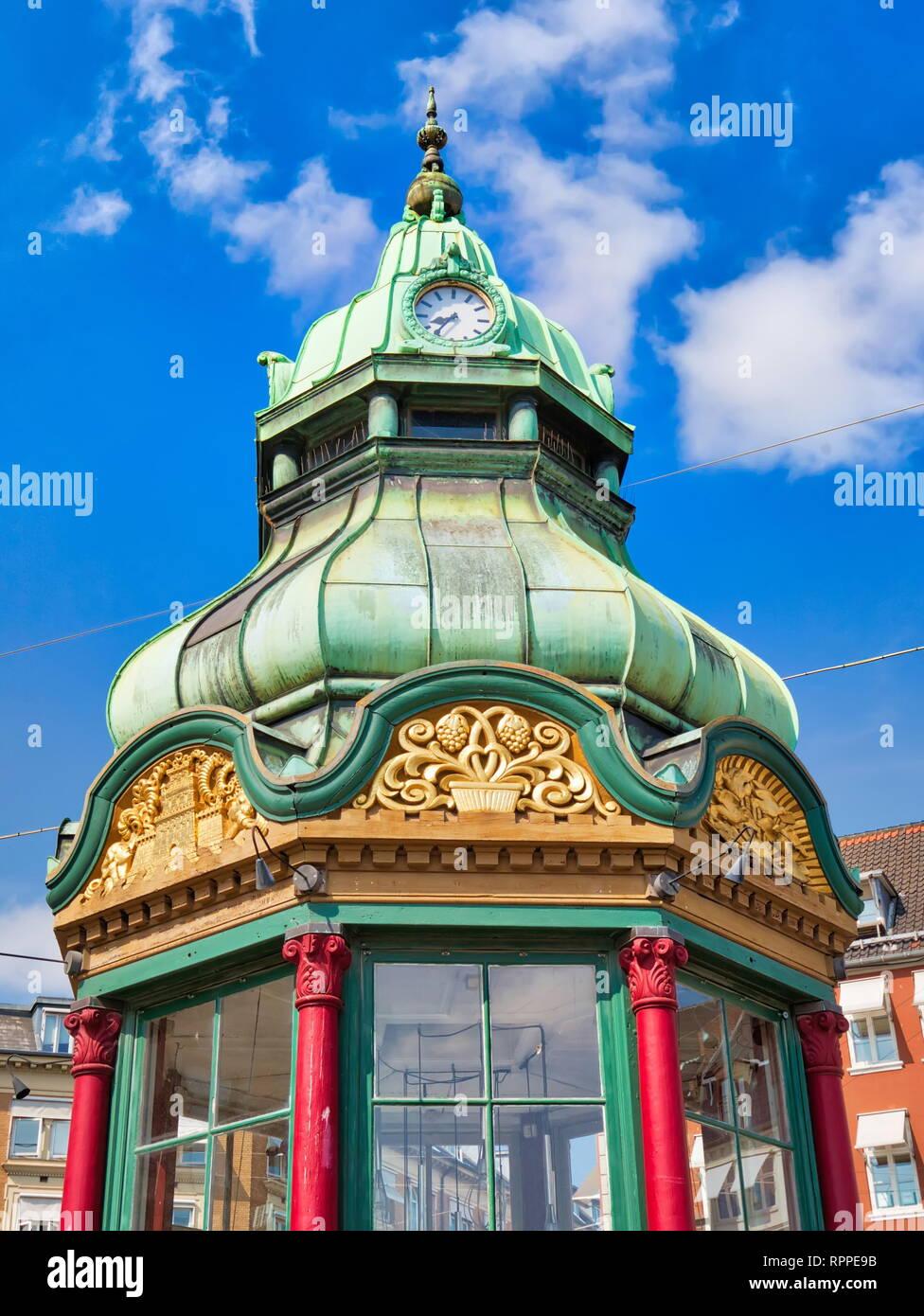 Copenhagen, Kongens Nytorv central city square - Stock Image