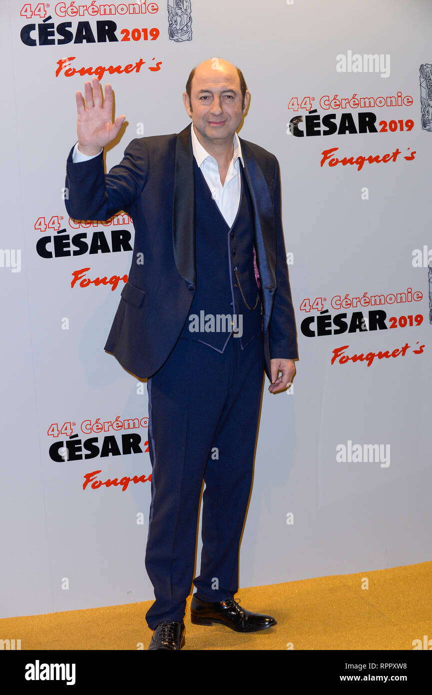 Kad Merad Poses In The Fouquet S Restaurant After The 44th Cesar