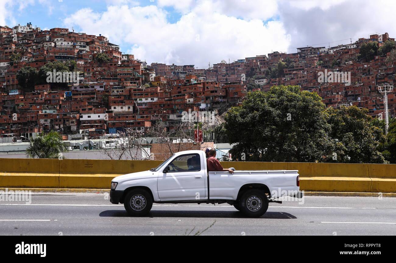 caracas, venezuela. 22nd feb, 2019. caracas, venezuela - february 22
