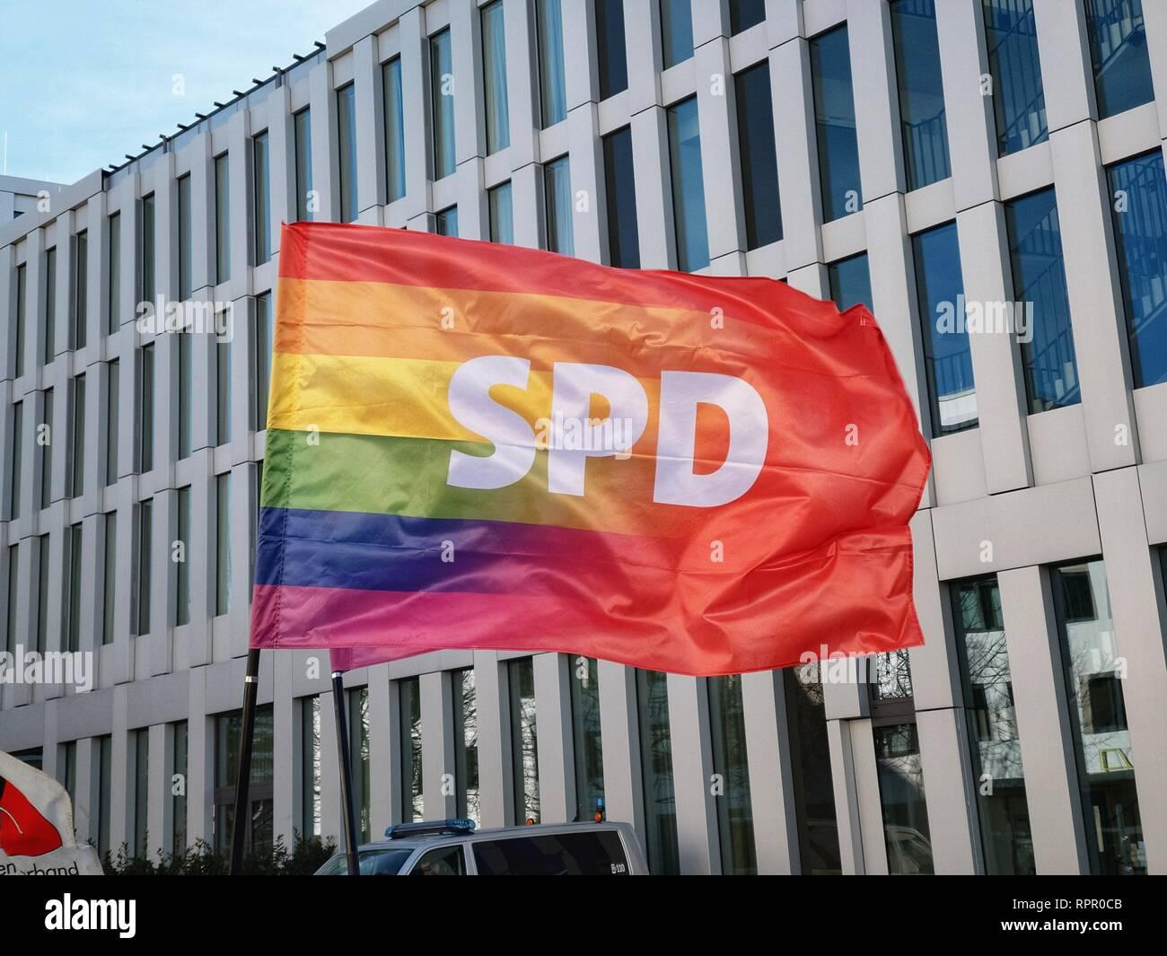 Munich, Bavaria, Germany  23rd Feb, 2019  The pro LGBT variants of