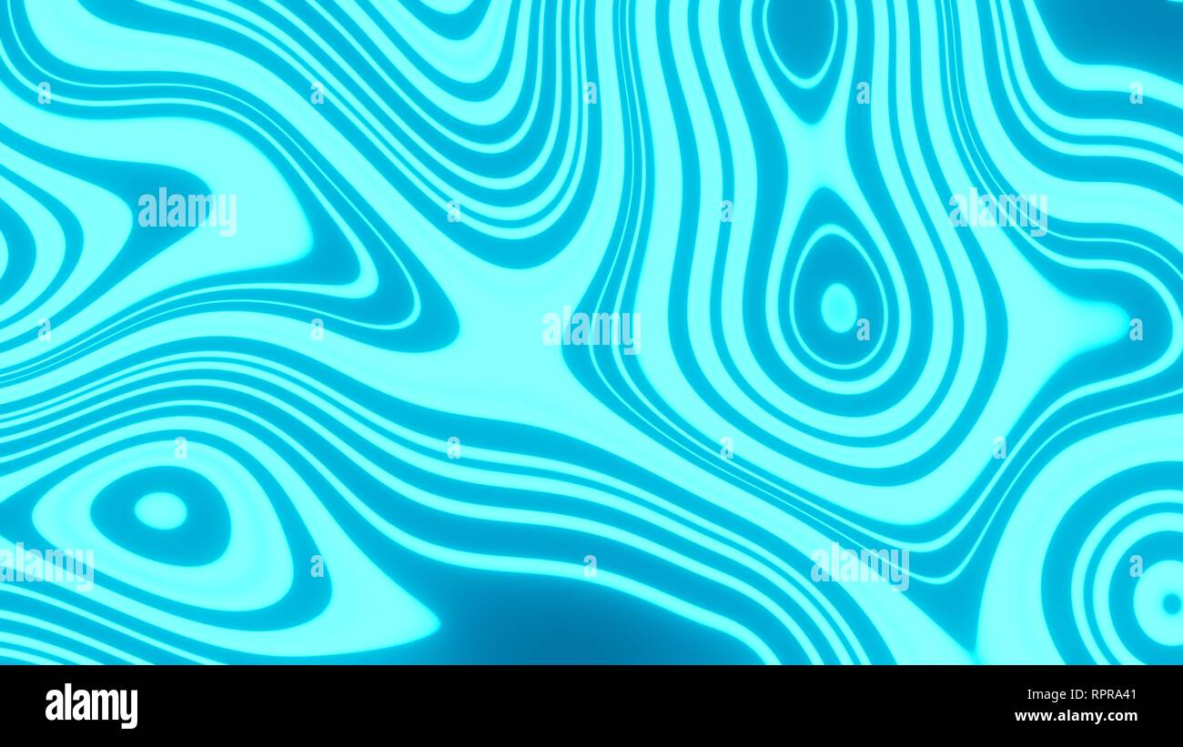 8K UHD Blue and Cyan Abstract Psychedelic Blob Wallpaper - Stock Image