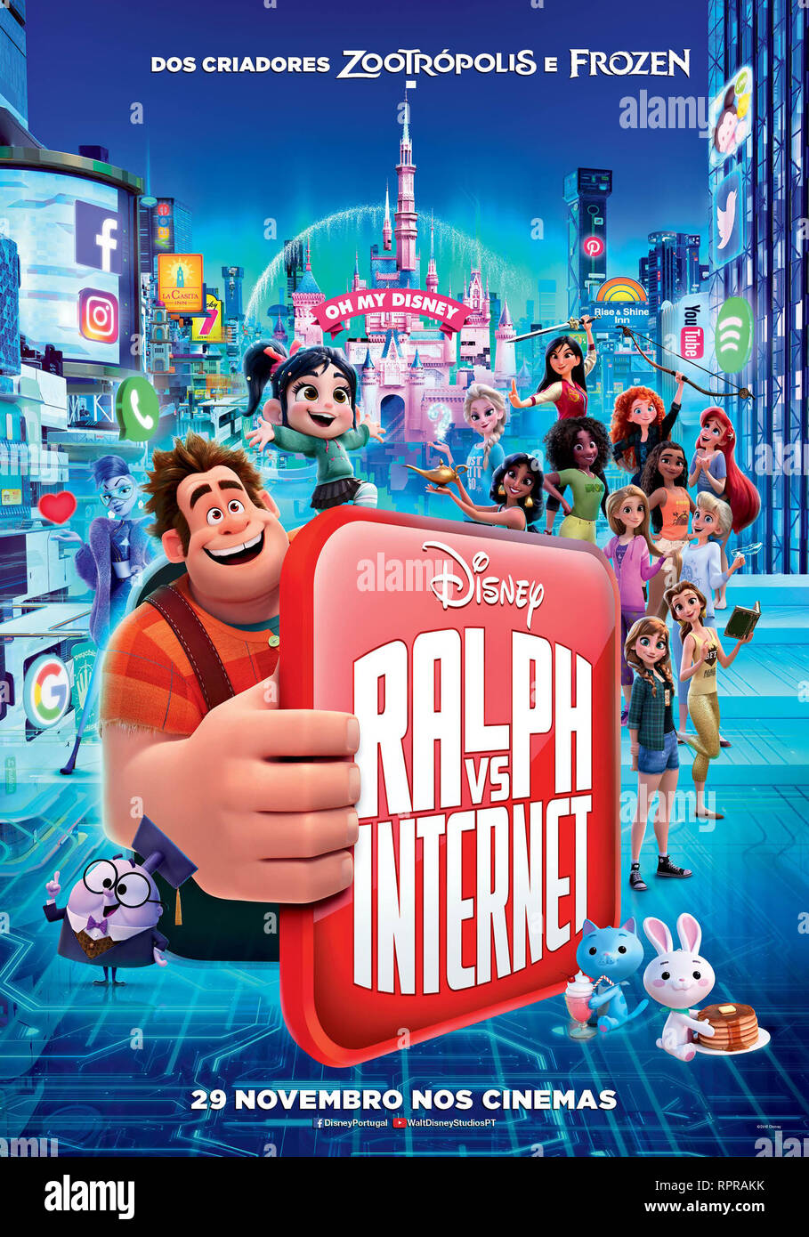 RALPH 2.0 RALPH BREAKS THE INTERNET 2019 de Rich Moore et Phil Johnston teaser portugais dessin anime; animation; cartoon Prod DB © Walt Disney Animat - Stock Image