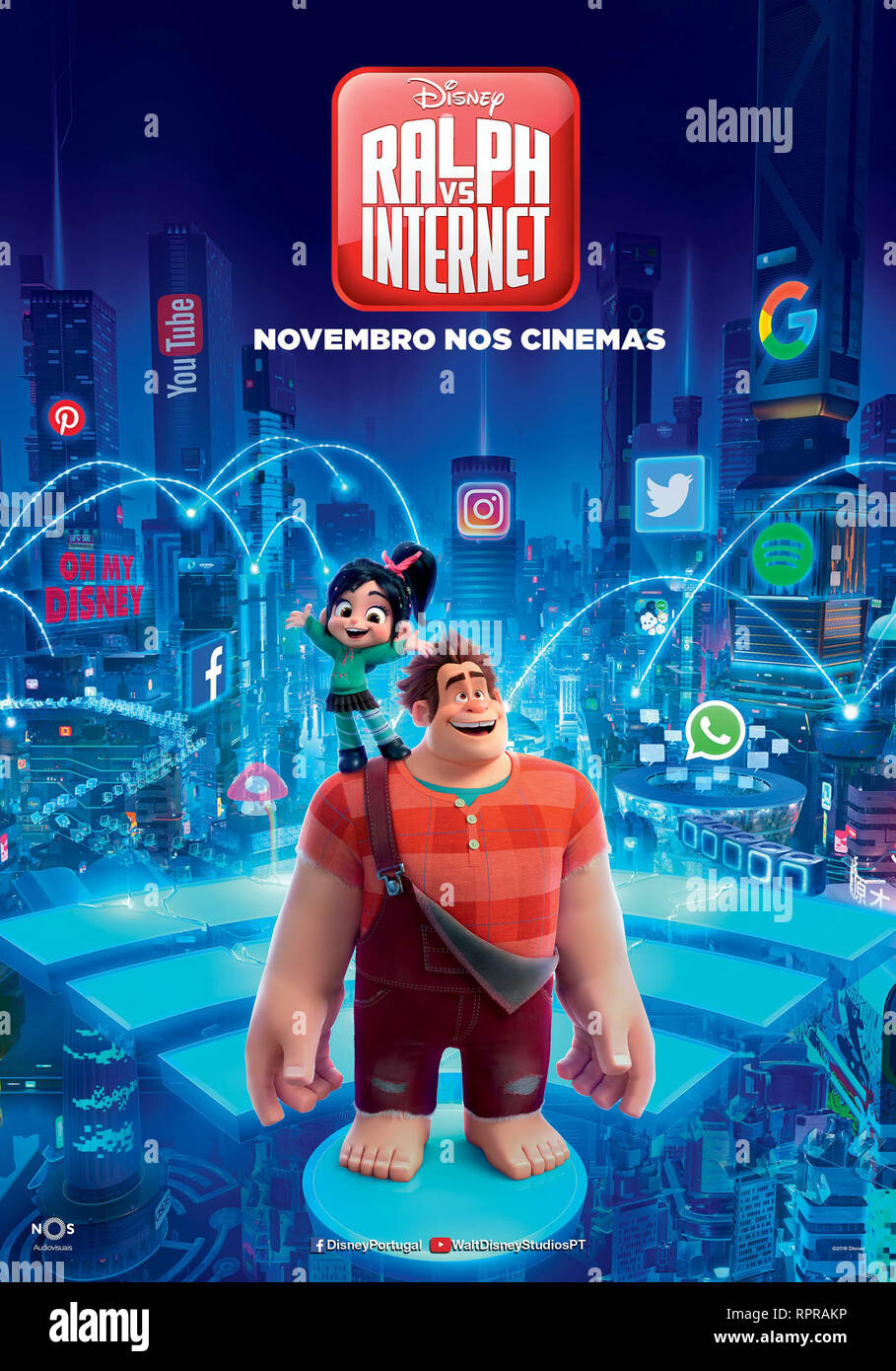 RALPH 2.0 RALPH BREAKS THE INTERNET 2019 de Rich Moore et Phil Johnston teaser portugais dessin anime; animation; cartoon Prod DB © Walt Disney Animat - Stock Image