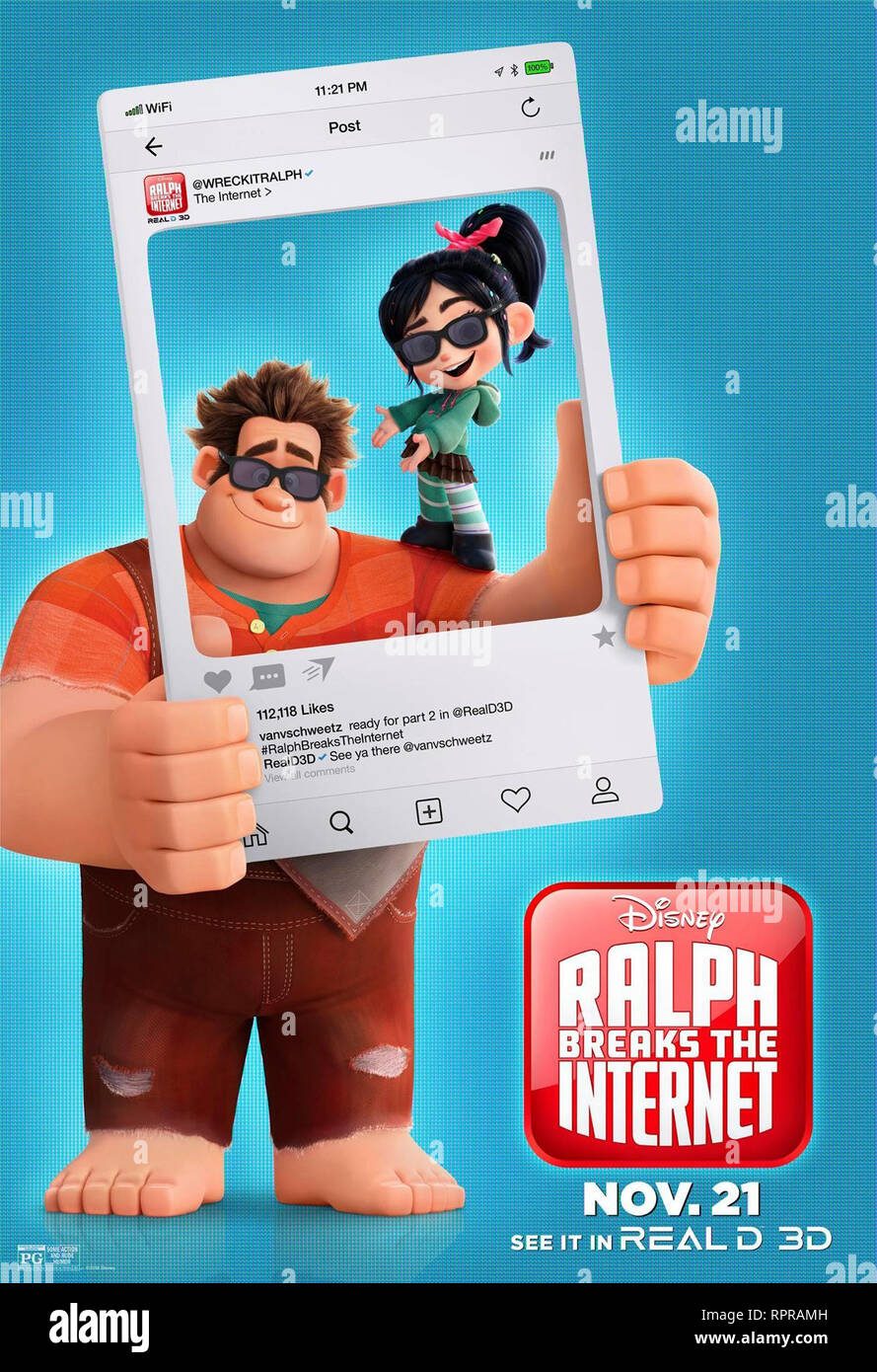 RALPH 2.0 RALPH BREAKS THE INTERNET 2019 de Rich Moore et Phil Johnston teaser americain dessin anime; animation; cartoon Prod DB © Walt Disney Animat - Stock Image