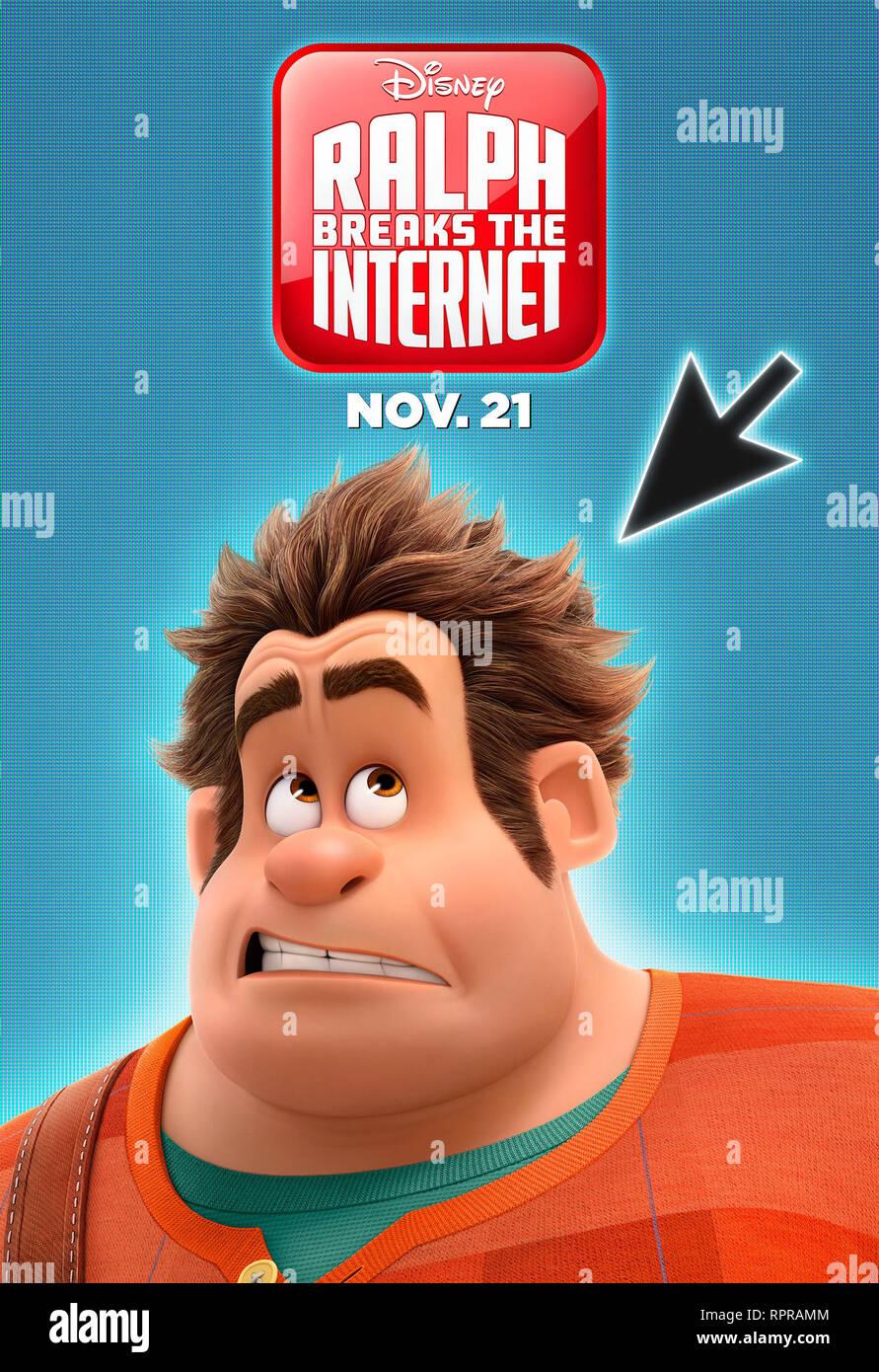 RALPH 2.0 RALPH BREAKS THE INTERNET 2019 de Rich Moore et Phil Johnston teaser americain dessin anime; animation; cartoon Prod DB © Walt Disney Animat - Stock Image