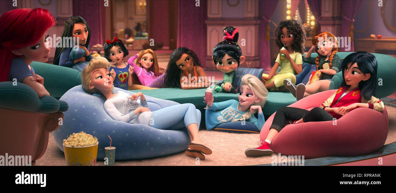 RALPH 2.0 RALPH BREAKS THE INTERNET 2019 de Rich Moore et Phil Johnston dessin anime; animation; cartoon Prod DB © Walt Disney Animation Studios - Wal - Stock Image