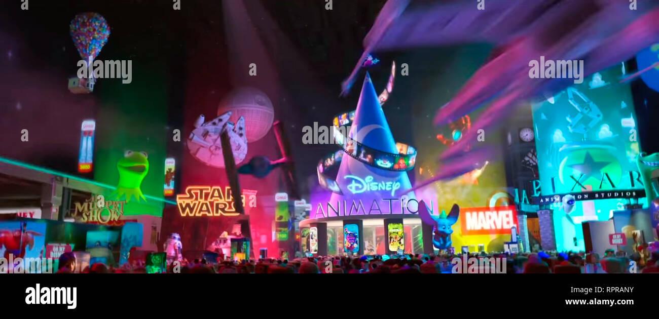 RALPH 2.0 RALPH BREAKS THE INTERNET 2019 de Rich Moore et Phil Johnston dessin anime; animation; cartoon; disney Prod DB © Walt Disney Animation Studi - Stock Image