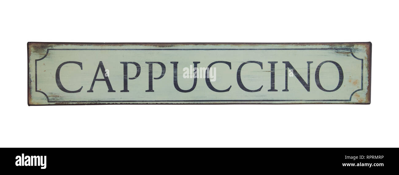 Authentic Italian Cappuccino vintage tin sign advertise  Coffee