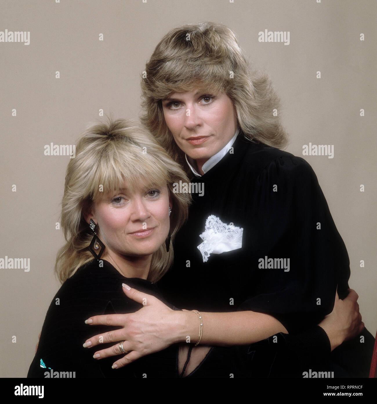GITTE und MARY ROOS, August 1980. Studioaufnahme. kpa/Grimm Stock Photo