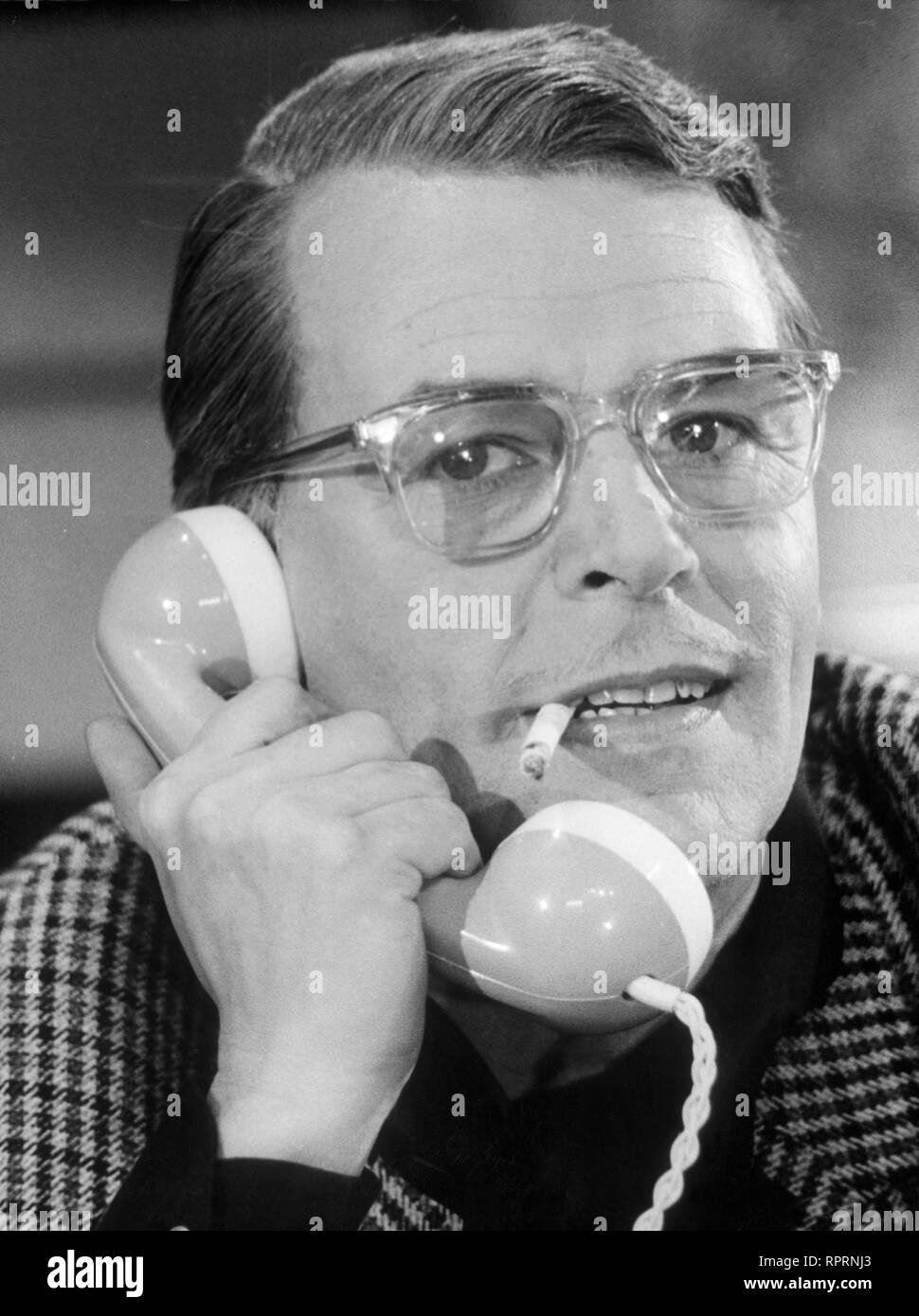 O. W. FISCHER, Portait aus den 60er Jahren. - Stock Image