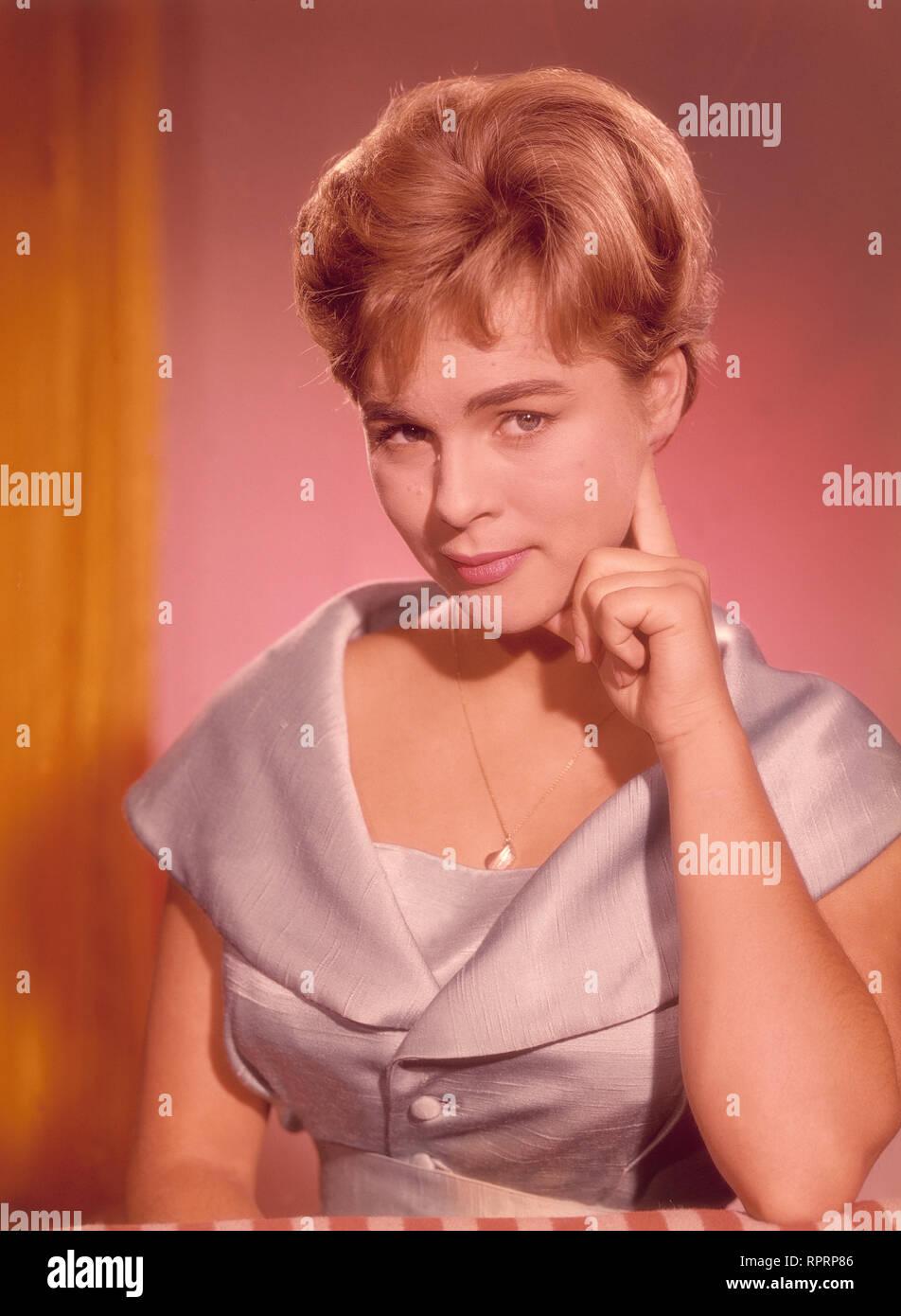 Conny Froboess Bilder cornelia (conny) froboess, studioaufnahme, 1959 stock photo