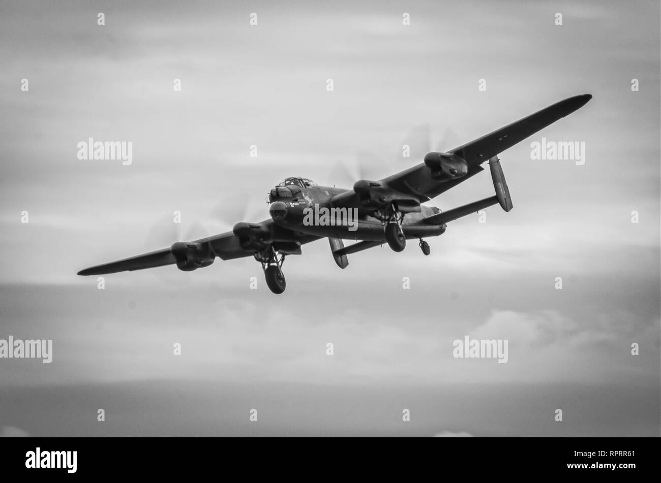 The Avro Lancaster B1 coming into land - Stock Image