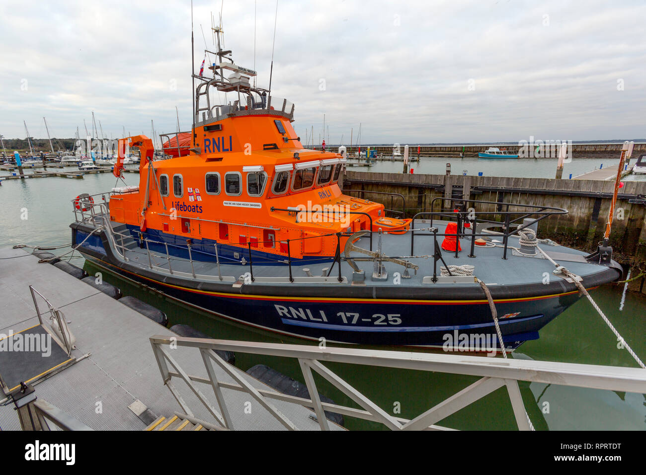 RNLI, Eric and Susan Hiscock, Wanderer, Life Boat, Yarmouth, Isle of Wight, England, UK, - Stock Image