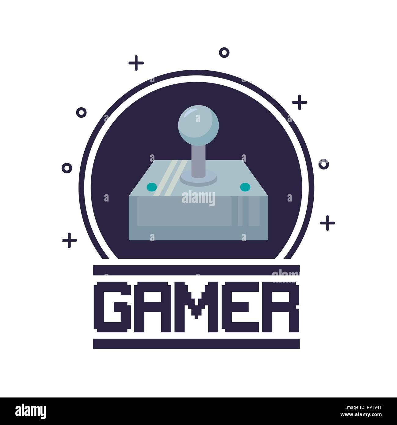 classic video game joystick vector illustration design - Stock Image
