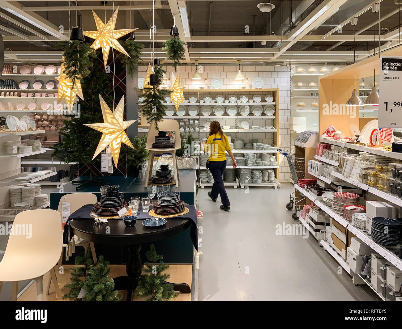 Christmas Articles.Paris France Cot 23 2018 Ikea Store Getting Ready For