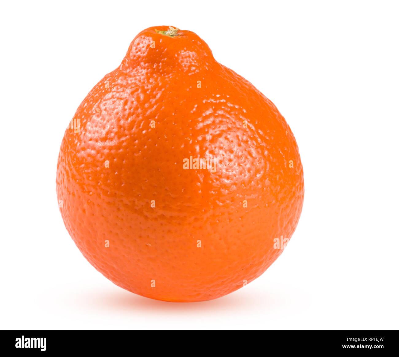 orange tangerine or Mineola isolated on white background - Stock Image