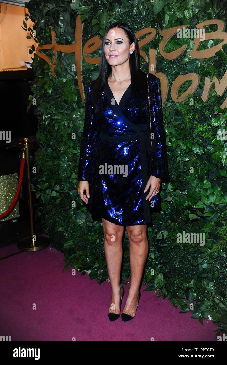 Linzi Stoppard attends Heartbeat of Home London premiere at the London Palladium. - Stock Image