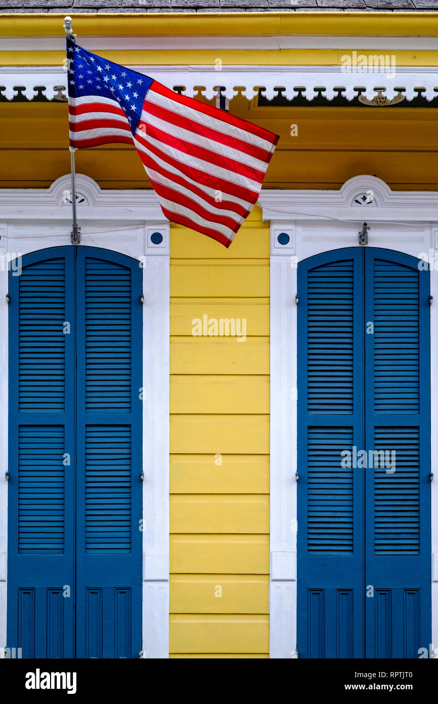 Front Doors Exterior Of A Shotgun House With Blue Doors And