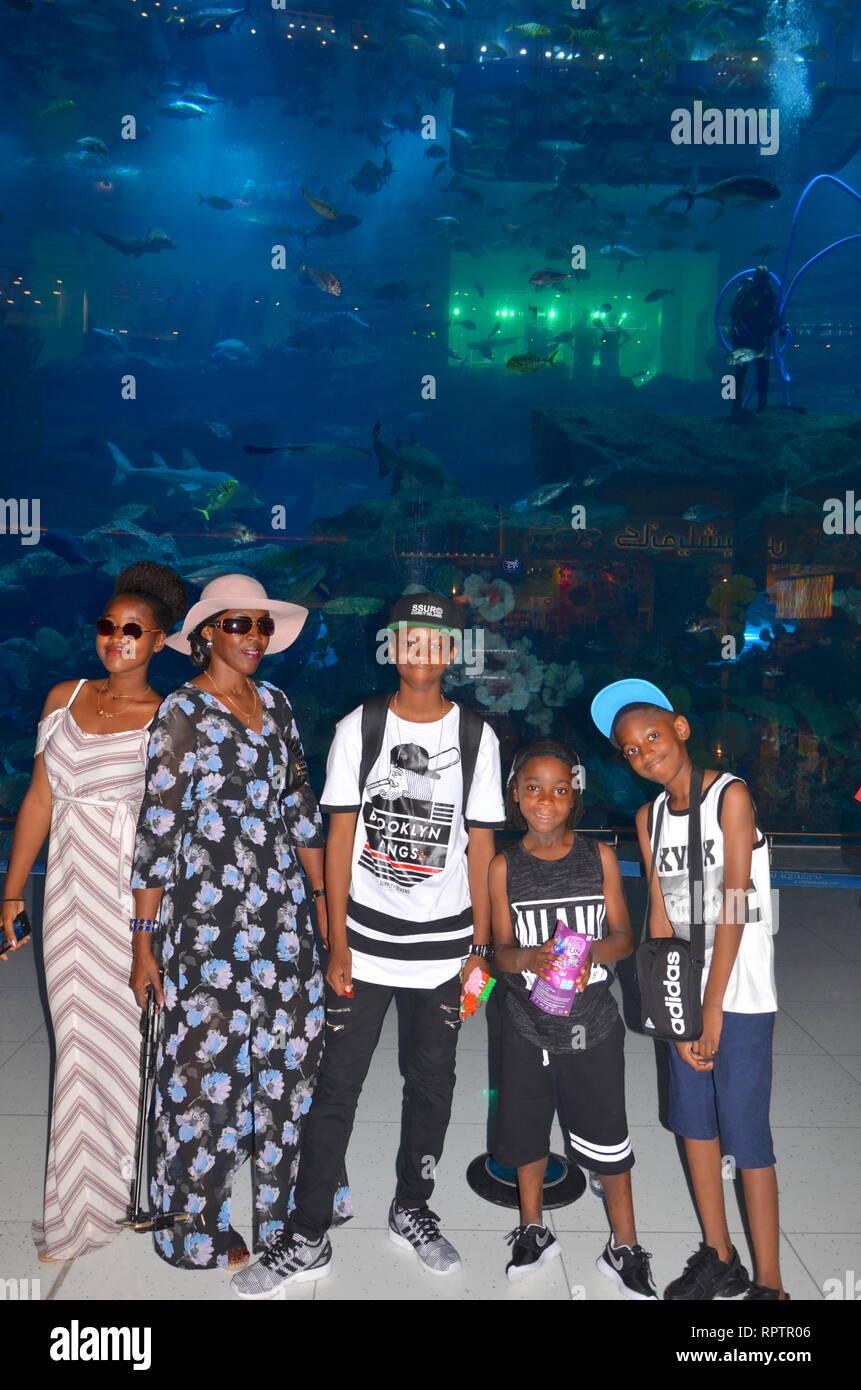 Afro-Caribbean at the Dubai Mall - Stock Image