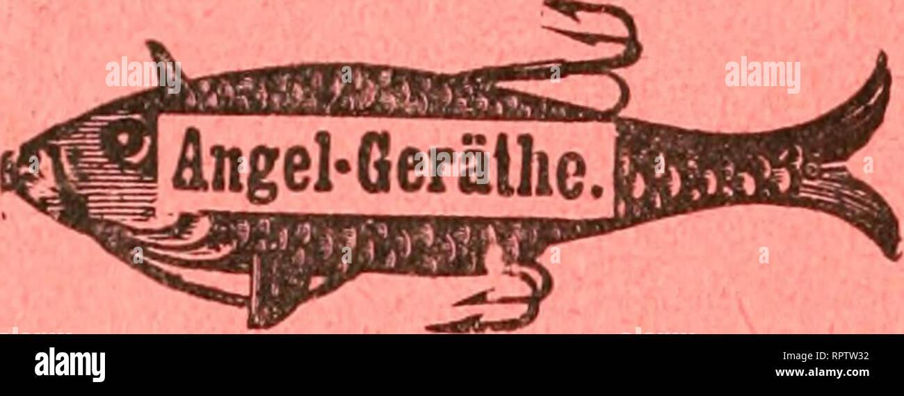 """. Allgemeine Fischerei-Zeitung. Aliaf^lfflC3knä#A ^^^ ^^ä^® ^^'^re für den Angelsport. Spezialität: Beste •«??•f «=^""""5f «^"""" «? *^5I Vorfücher, feinste Fliegen, extra stark angemachte Angeln. F'BCff^ll.iMok'fr^Ck Eigene Herstellung alier Netze für Fischerei, wie Zug-, ? ?»^'????^«S*ÄtSB Stell-, Spiegel-, Senk- und Krebsnetze, Reusen und Flügelreusen. Alles z. sof. Gebrauch fertig, wie auch nnmontirt. Garantie f. bestes Material, beste Konstruktion und Fangfähigkeit. Chi». Brink, Bonn a. Rh., Angelgeräte u. Netzfabrik. lllustrirte Preisliste kostenfrei. Fritz ZicgdtspccH, Berlin sud. K - Stock Image"""