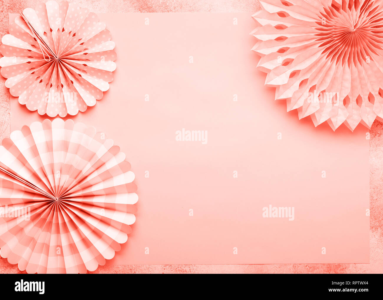Brilliant Chinese Paper Fans In Pastel Colors On Pink Table Top View Interior Design Ideas Grebswwsoteloinfo
