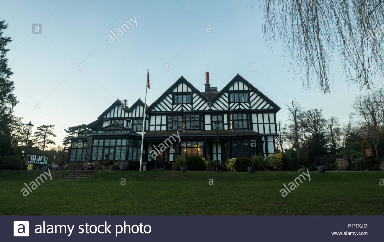 Bhaktivedanta Manor ISKCON site near Watford, England Stock Photo