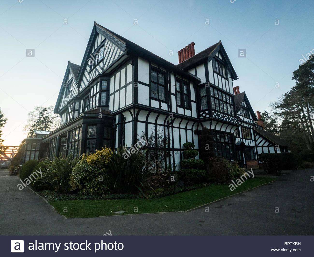 Bhaktivedanta Manor ISKCON site near Watford, England Stock Photo