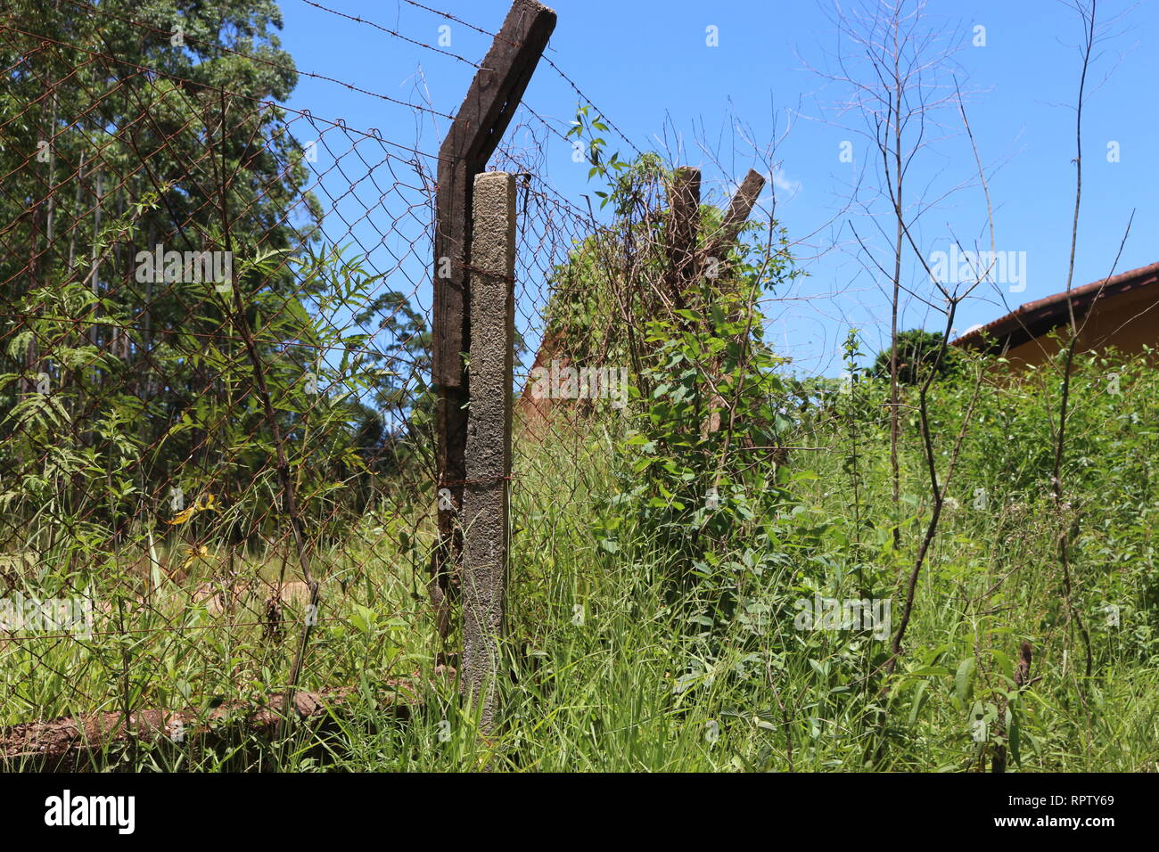 Cerca em Propriedade Rural Stock Photo