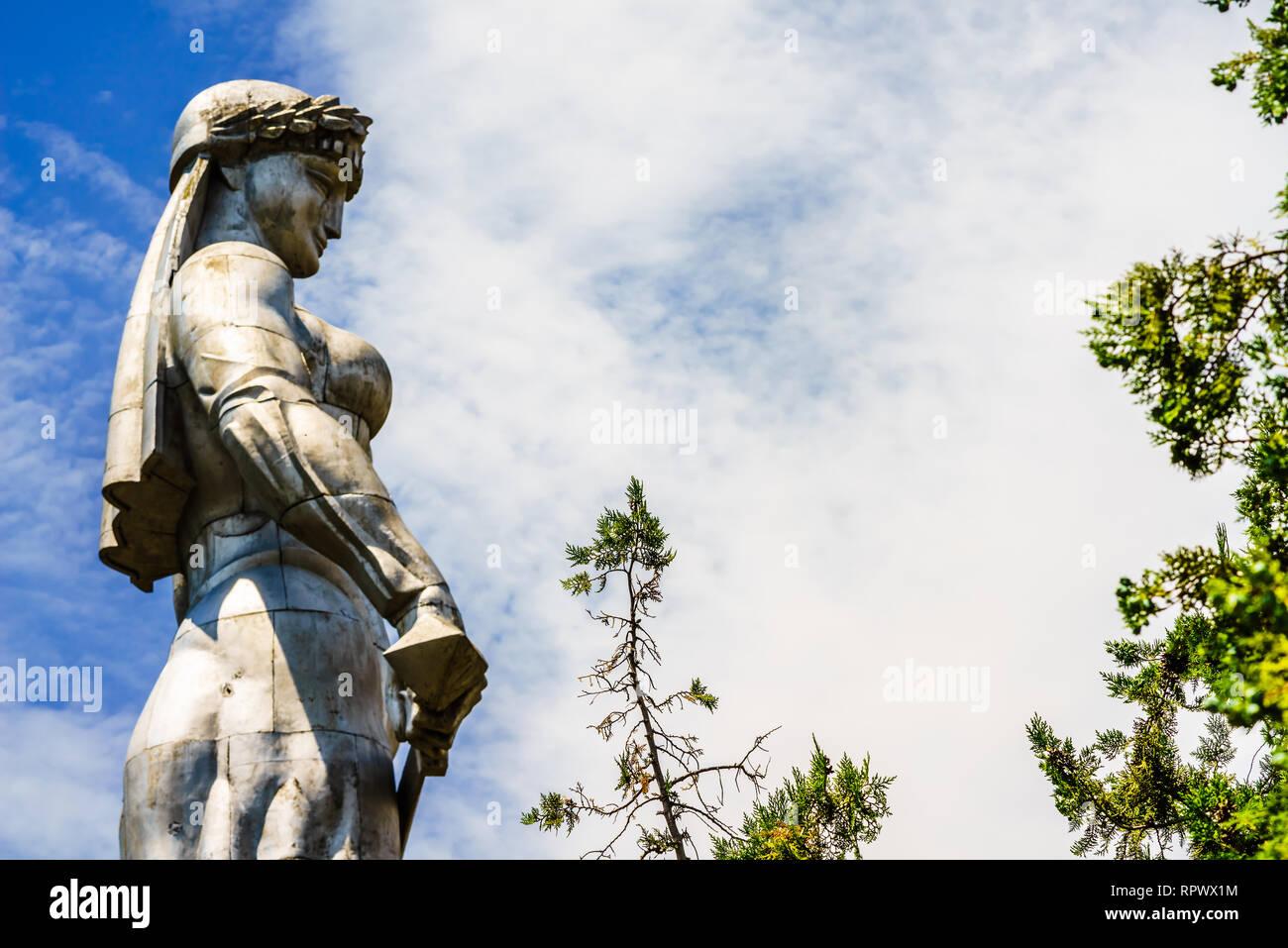 Kartlis Deda Monument on the top of Sololaki hill in Tbilisi, Georgia Stock Photo