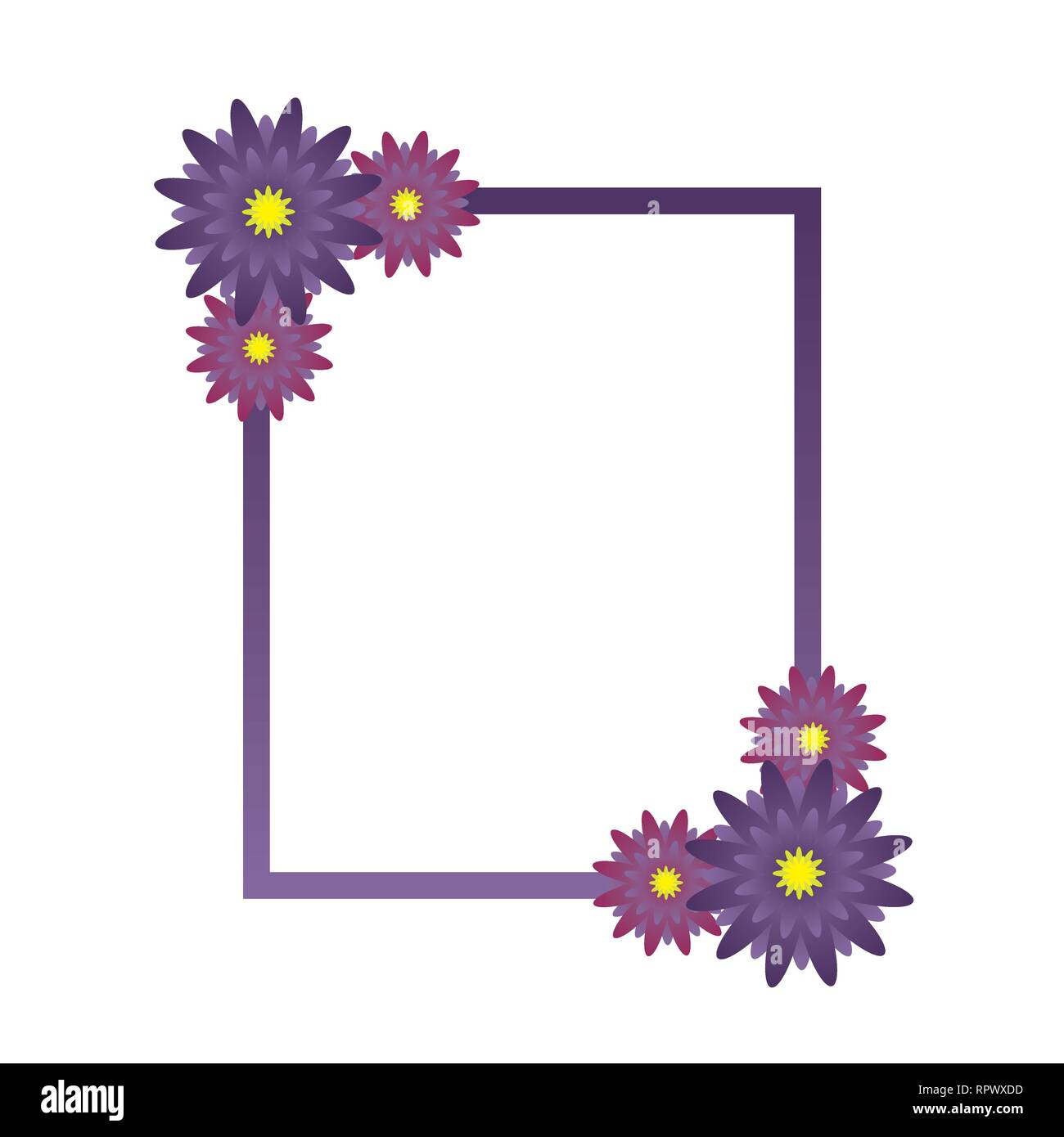 Flower Frame Wedding Invitation Template Greeting Card For