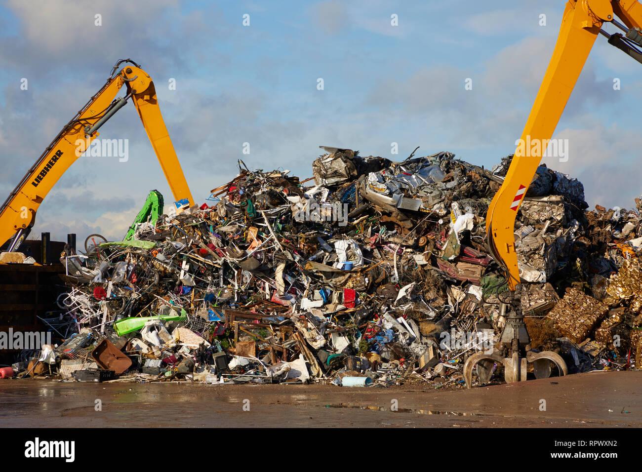 A metal recycling yard. Stock Photo