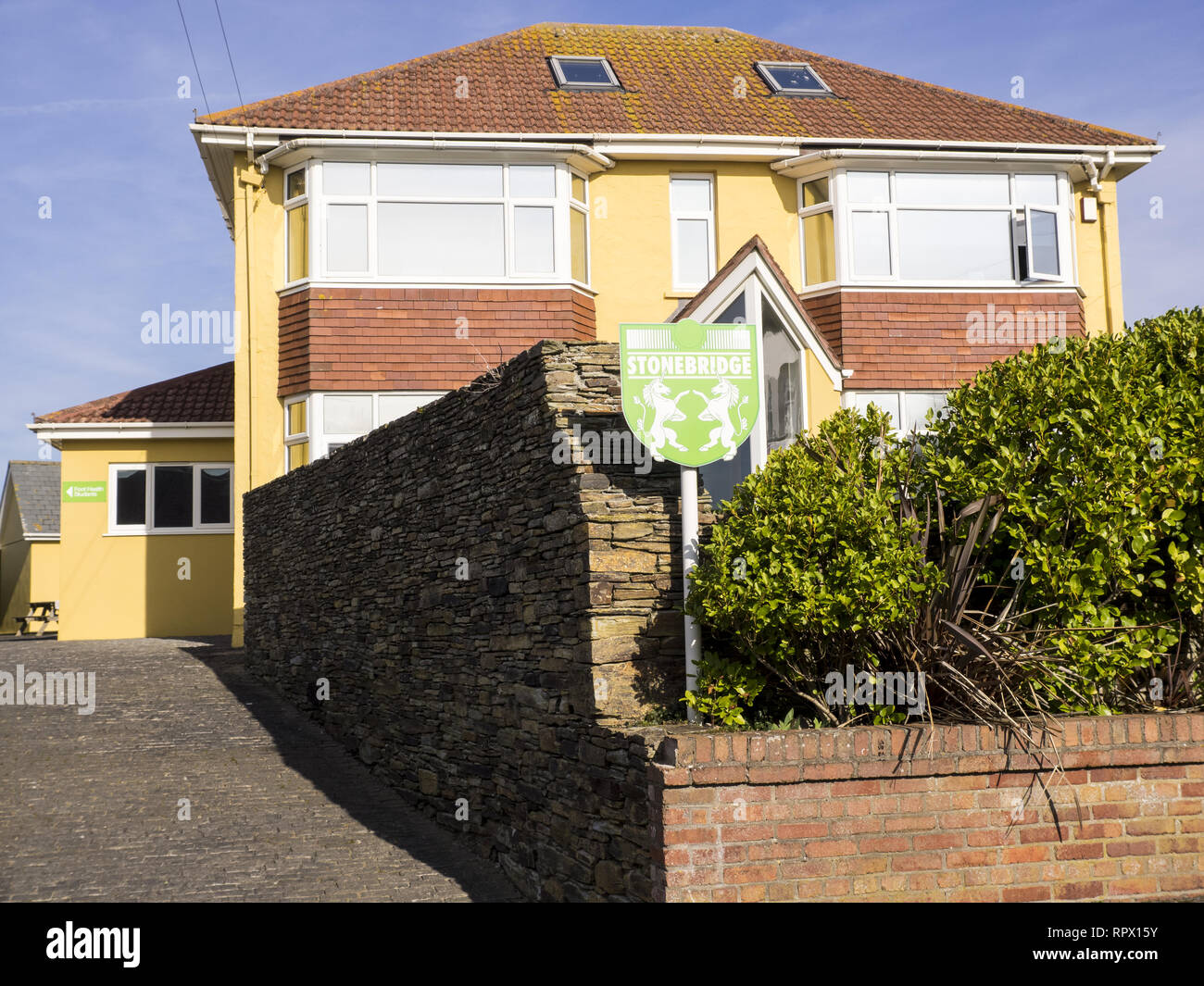 Stonebridge Colleges, a leading home learning college with students around the world, Bude, Cornwall, UK - Stock Image