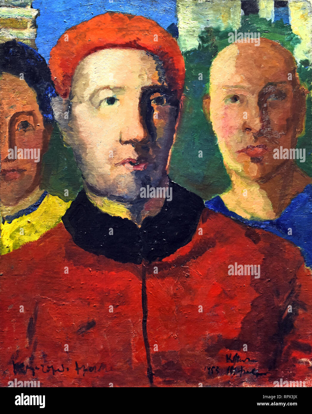 Triple Portrait ( Study for the painting Socialist City ) 1933 Kazimir Malevich 1878-1935 Russia, USSR, Russian, Federation, - Stock Image
