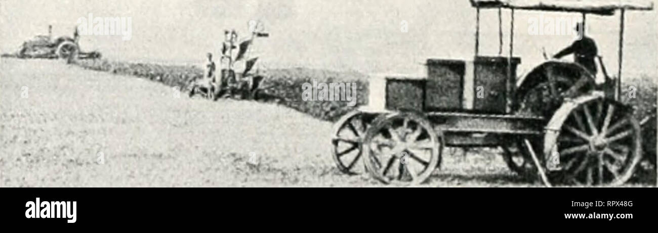 . The agricultural gazette of New South Wales. Agriculture; Agriculture -- Australia New South Wales. Portable Motor attached to Threshing Machine on % German farm. Illii-traticiii liy Sieiueus liro.s., Ltil, enormous value l)otli foi- iiraziriy pufposcs and for tViiit- ^^t•ovitll,^ In t his section scviral illus- trations of electricity as applied to farm operations in Jiermany are from copies lent InvMi'ssrs.Siemens I^ros., Ltd., Lcntdon and Sydney. The •extensive electric plant at the H illgi'ove MininLC W Orks, the power for whicli is carried from a water source 20 miles (hstant, was supp - Stock Image