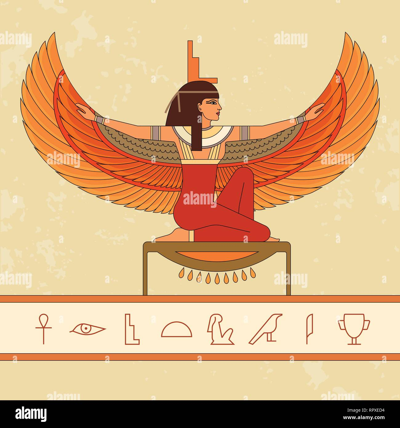 Egyptian Goddess Isis Stock Photos Amp Egyptian Goddess Isis