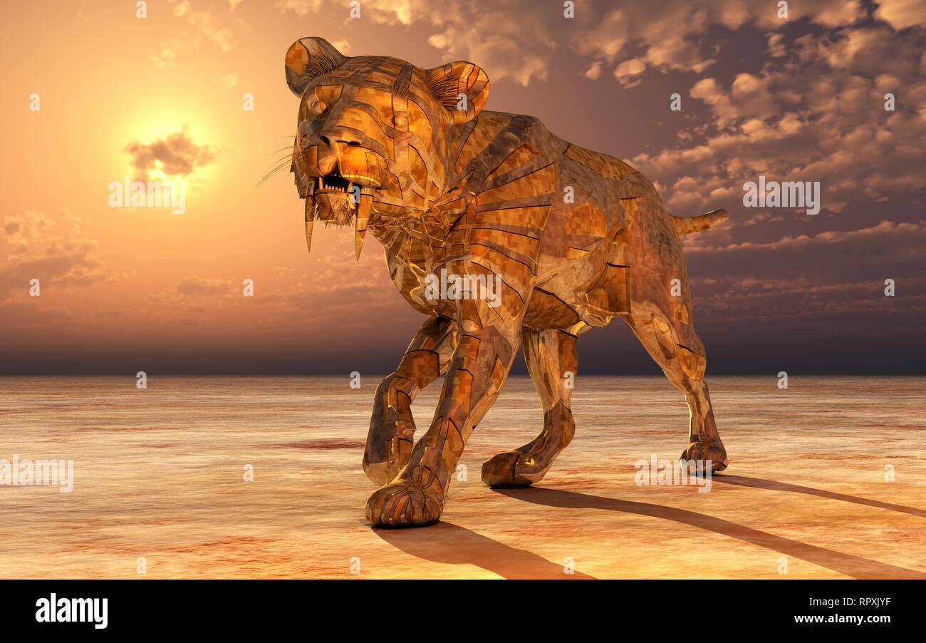 Droid Sabre -Toothed Tiger - Stock Image