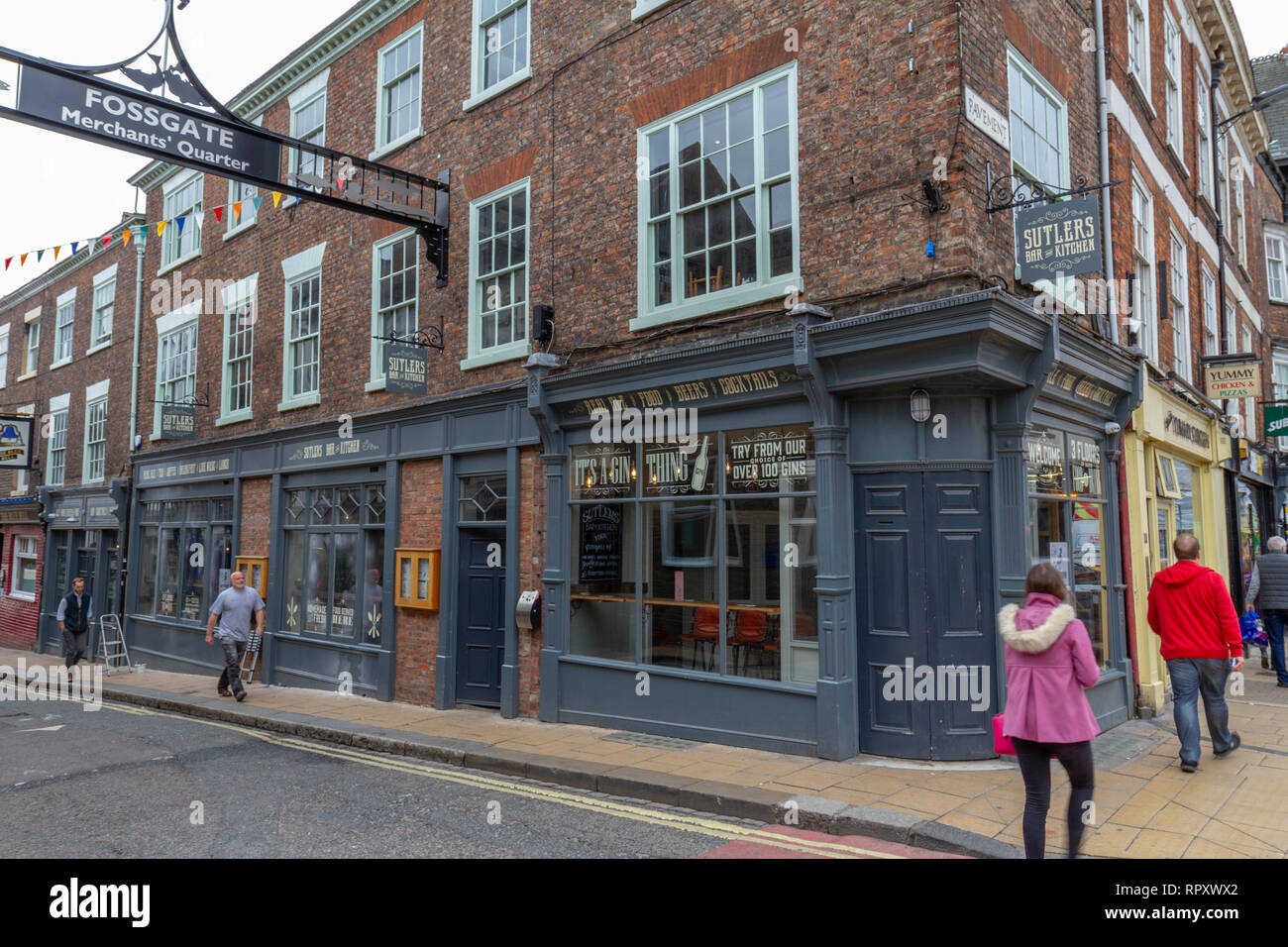 Sutlers Bar & Kitchen, Fossgate, City of York, UK. - Stock Image