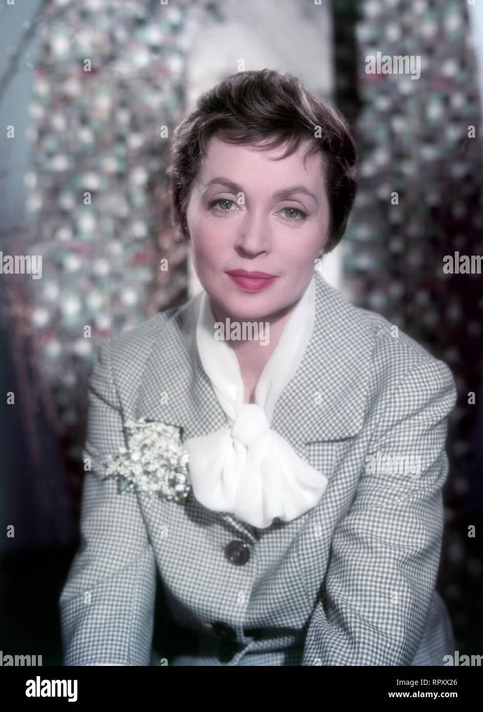 Die deutsche Schauspielerin Lilli Palmer, Studioaufnahme, ca. 1956. German actress Lilli Palmer, Studio Still, 1956. - Stock Image