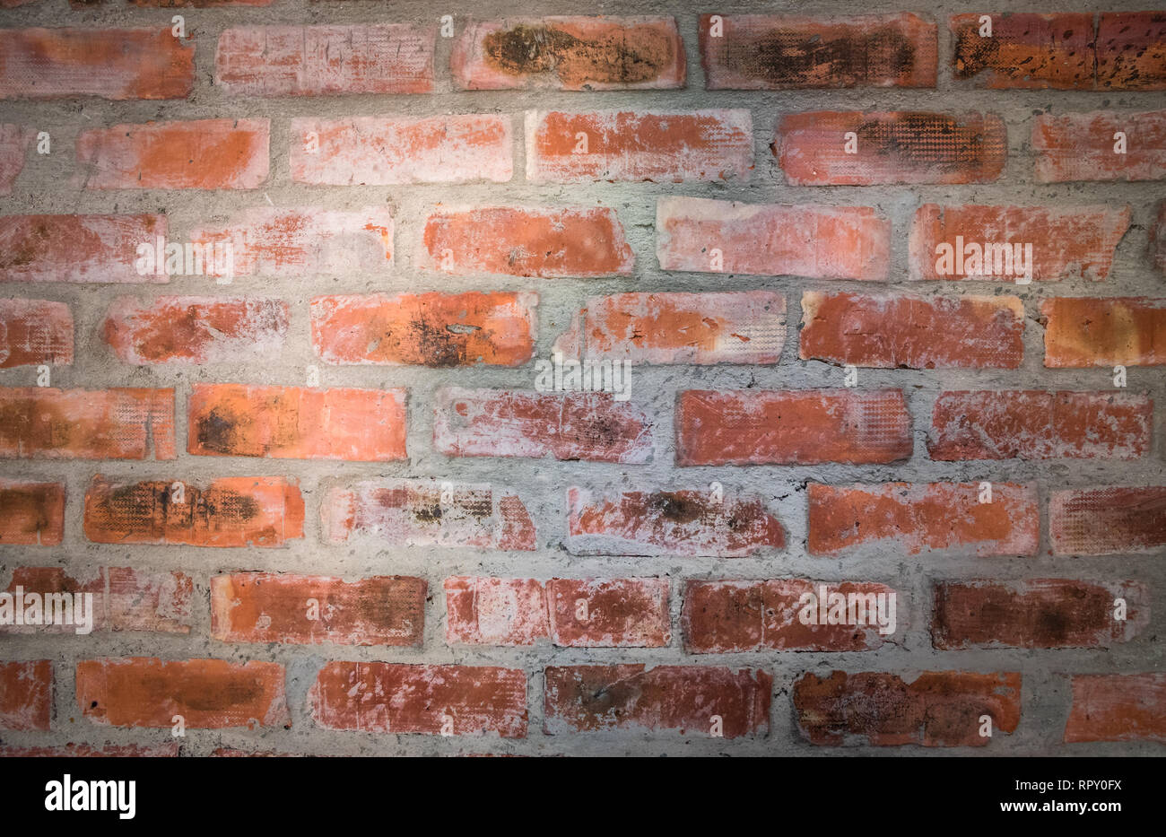 Red brick wall. Nice vintage textured background. Stock Photo