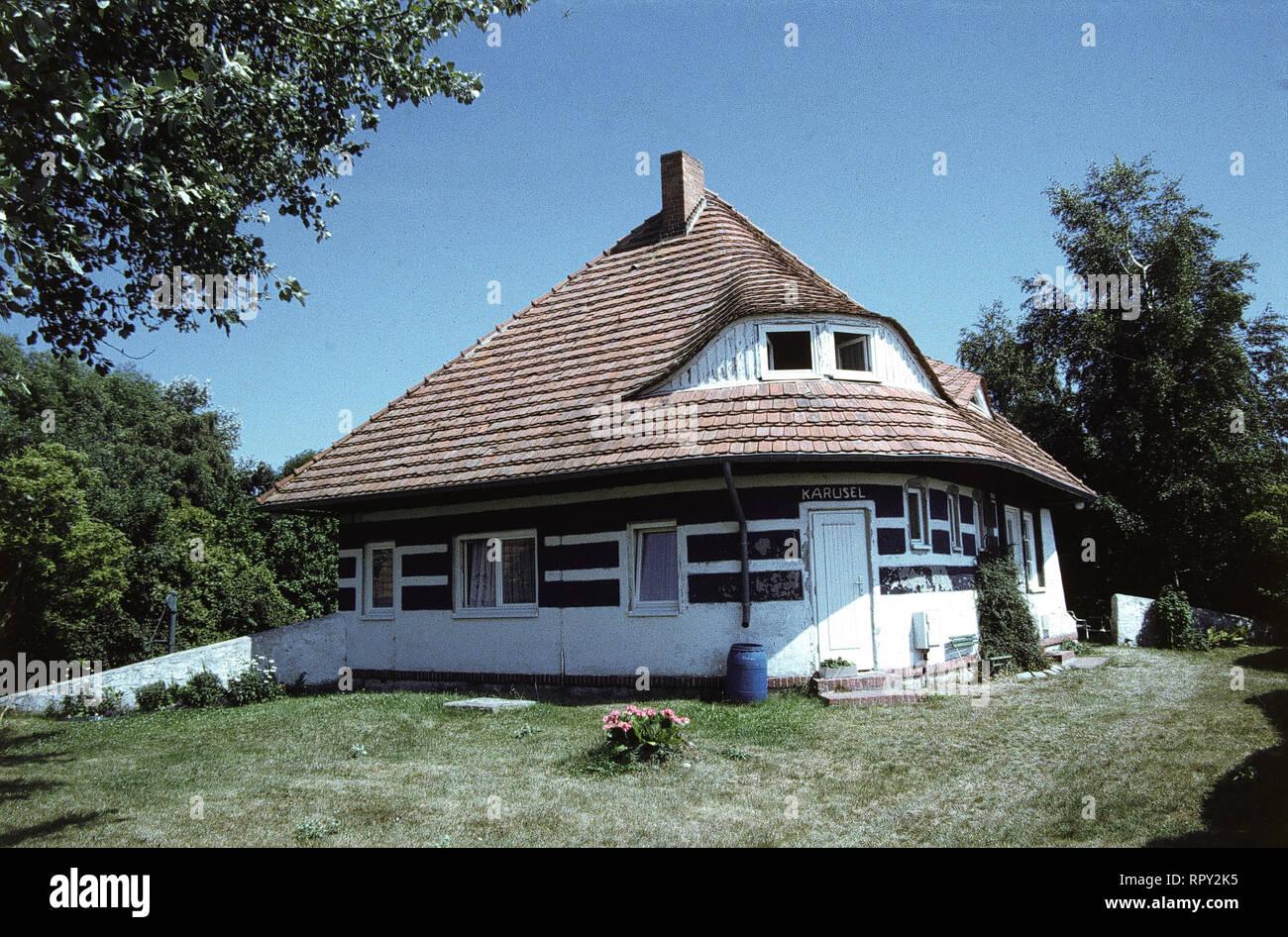 Das Sommerhaus von Asta Nielsen auf der Ostseeinsel Hiddensee. / Überschrift: Asta Nielsen - Stock Image