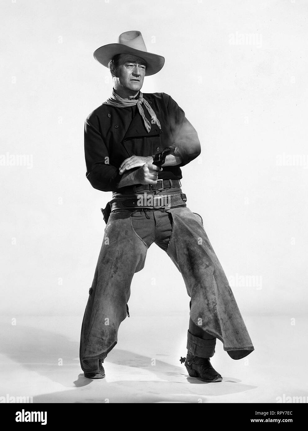 JOHN WAYNE, THE MAN WHO SHOT LIBERTY VALANCE, 1962 - Stock Image